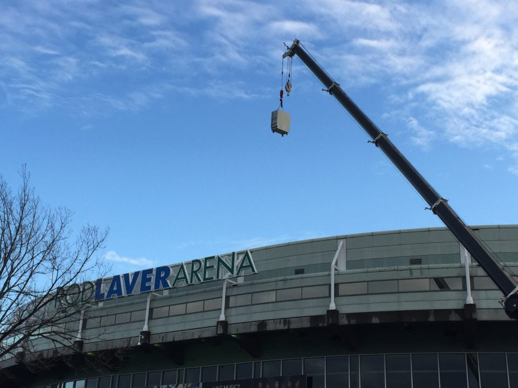 Mechanical Upgrade Rod Laver Arena Moving roof