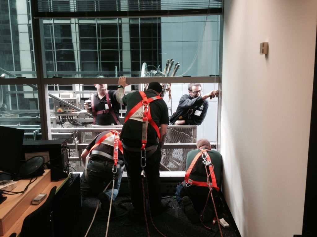 Facade Modernisation - glass replacement