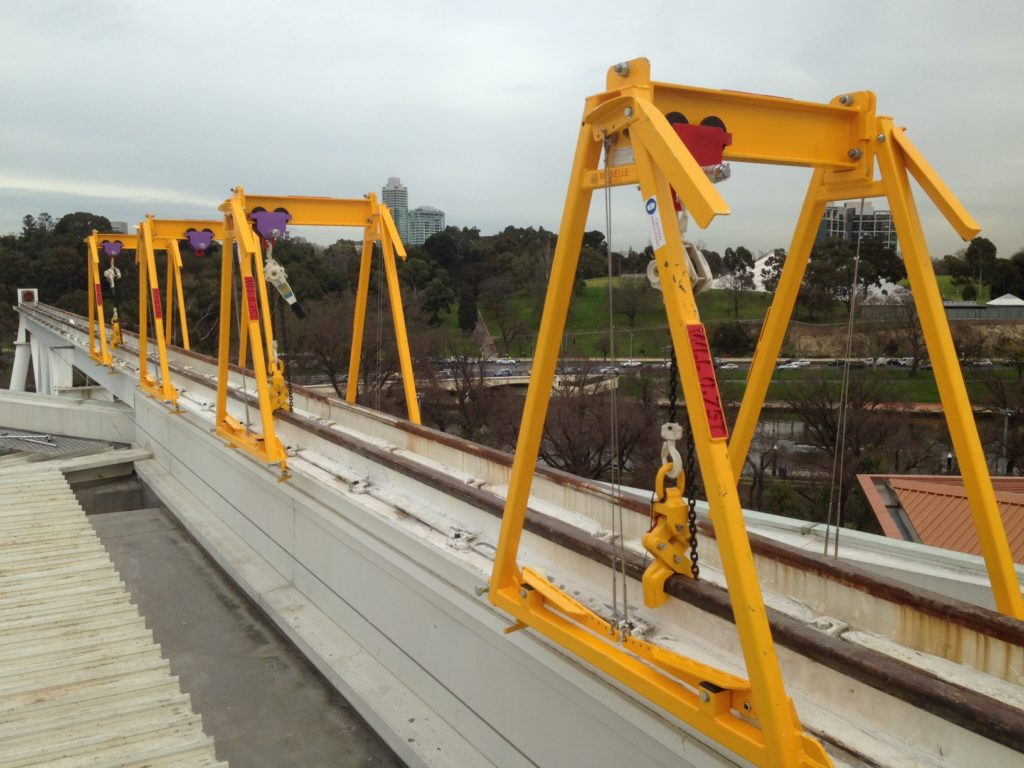 Rod Laver Arena Lift Rails Mechanical Upgrade