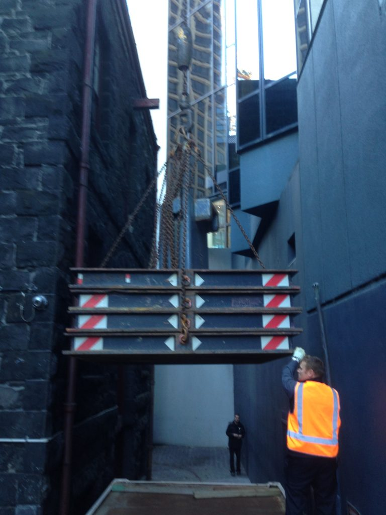 Rialto Tower - Major plant inspections, Crane load testing