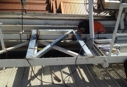 Welding Rails - Mechanical Upgrade Rod Laver Arena